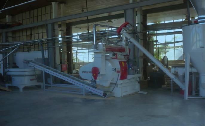 impianto pellettatura legno